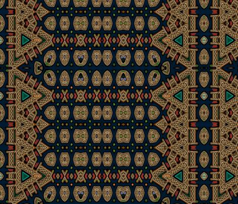 Celtic Bravery Navy  fabric by wren_leyland on Spoonflower - custom fabric