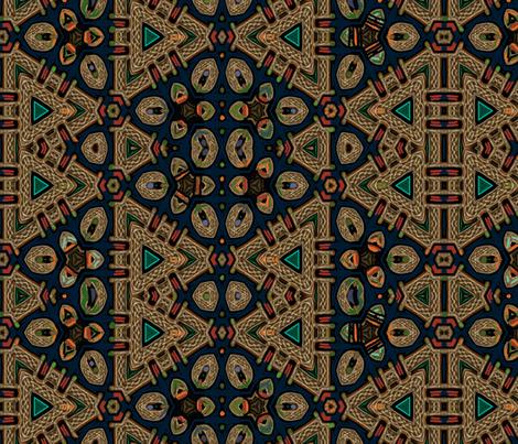 Celtic Bravery Navy Gold fabric by wren_leyland on Spoonflower - custom fabric