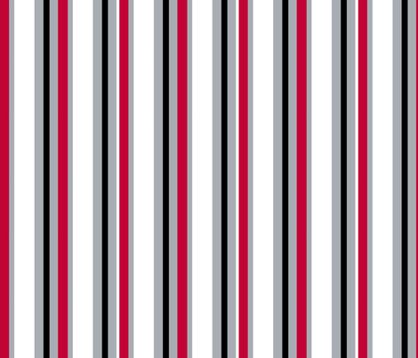 Stripes Scarlet fabric by olioh on Spoonflower - custom fabric