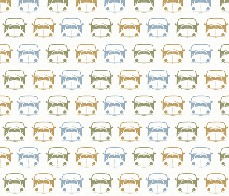 Beetles and Campers fabric by dogsndubs on Spoonflower - custom fabric