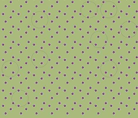 Polka Green with Purple Detail fabric by ladycavendish on Spoonflower - custom fabric
