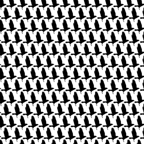 As the crow flies houndstooth small fabric by creative_merritt on Spoonflower - custom fabric