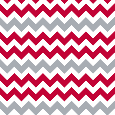 Chevron Scarlet fabric by olioh on Spoonflower - custom fabric