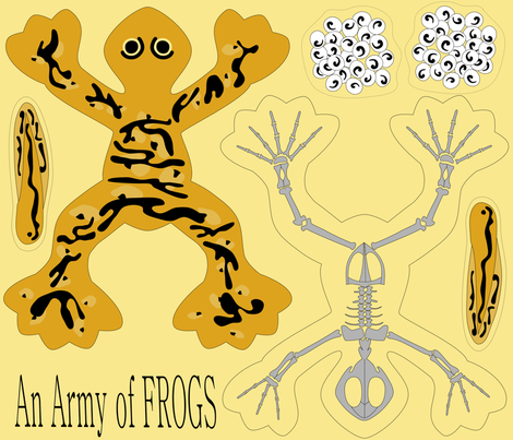 Army Frog fabric by loopy_canadian on Spoonflower - custom fabric