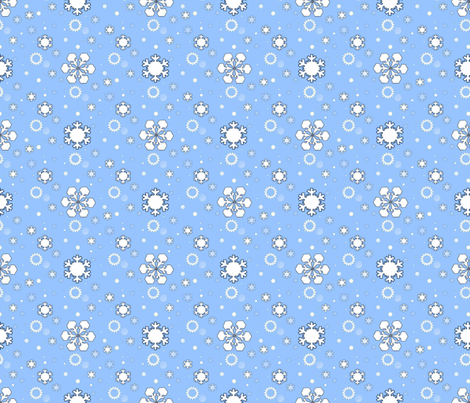 Snowflakes fabric by alfabesi on Spoonflower - custom fabric