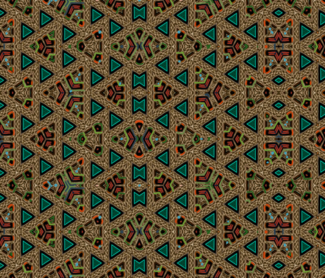 Celtic Bravery Rope Triangles fabric by wren_leyland on Spoonflower - custom fabric