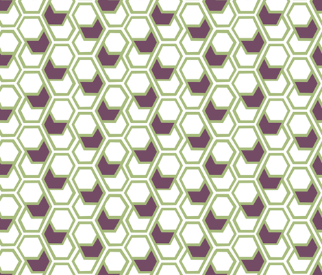 hex_pattern_529 fabric by katie_zelle on Spoonflower - custom fabric