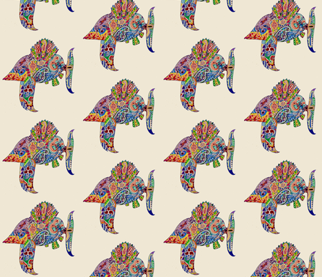 Fishing for luck fabric by 57worlds on Spoonflower - custom fabric