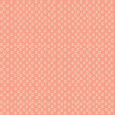Coral Dots fabric by anna_gregory on Spoonflower - custom fabric