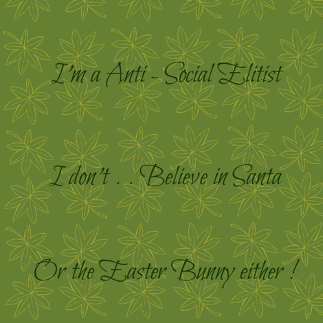 Anti-Social Elitist fabric by paragonstudios on Spoonflower - custom fabric