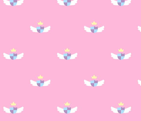 Pink Cute Crest fabric by nemethwild on Spoonflower - custom fabric