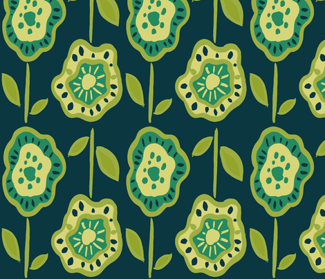 doubleflowerdkblue fabric by alyson_chase on Spoonflower - custom fabric