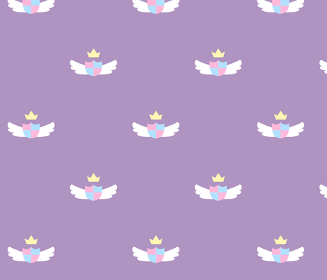 Purple Cute Crest fabric by nemethwild on Spoonflower - custom fabric