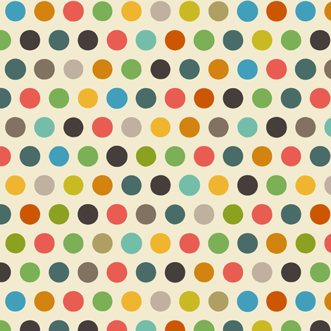 cream boy number spot fabric by scrummy on Spoonflower - custom fabric