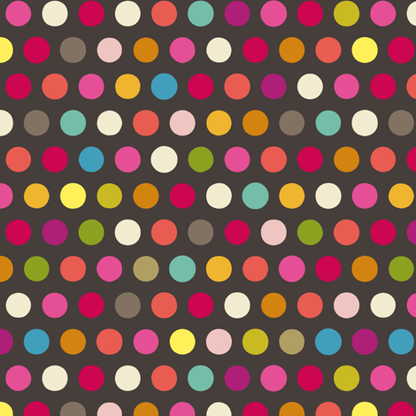 girl chocca number spot fabric by scrummy on Spoonflower - custom fabric