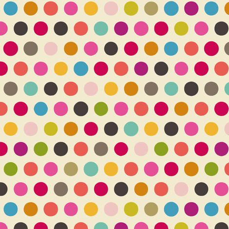 girl cream number spot fabric by scrummy on Spoonflower - custom fabric