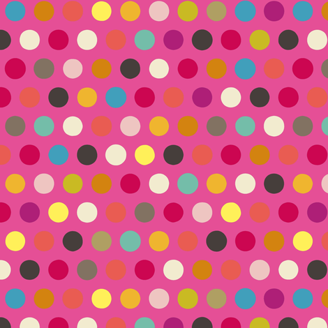 pink girl number spot fabric by scrummy on Spoonflower - custom fabric