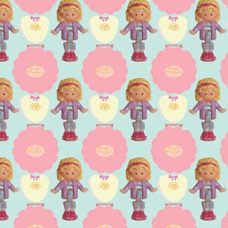 Pretty Polly Pocket! fabric by alysnpunderland on Spoonflower - custom fabric