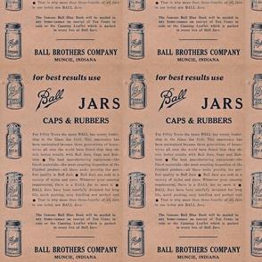 Blue Ball Jar Advertisement