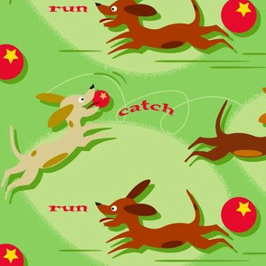 Run, Catch and Fetch (on green)
