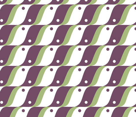 BIRD in Plum and Mint fabric by hitomikimura on Spoonflower - custom fabric