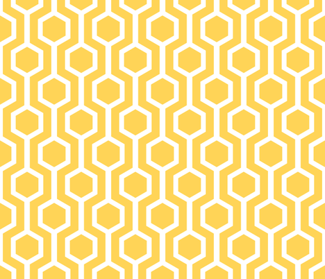 white lattice on gold fabric by amybethunephotography on Spoonflower - custom fabric