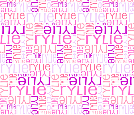 Personalised Name Fabric - Pinks Coral Purple fabric by shelleymade on Spoonflower - custom fabric
