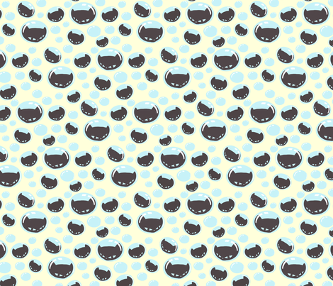 Little Kitty Bubbles fabric by lovekittypink on Spoonflower - custom fabric