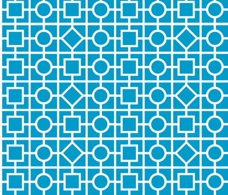 Geometric print - blue fabric by shelleymade on Spoonflower - custom fabric
