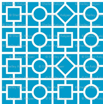 Geometric print - blue