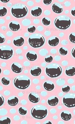 Little Pink Kitty Bubbles