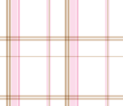 ice cream inspired plaid fabric by artsycanvasgirl on Spoonflower - custom fabric