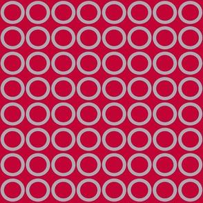 Scarlet Gray Circles