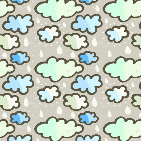 Rainy Day in the Hay fabric by lisabarbero on Spoonflower - custom fabric