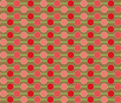 Cherry Bomb complimentary fabric by designedtoat on Spoonflower - custom fabric