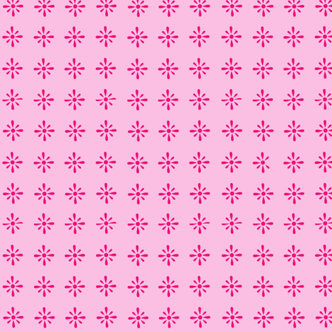 Small Floral Repeat pink fabric by megankaydesign on Spoonflower - custom fabric