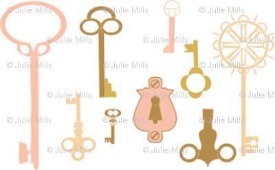 Keys pink