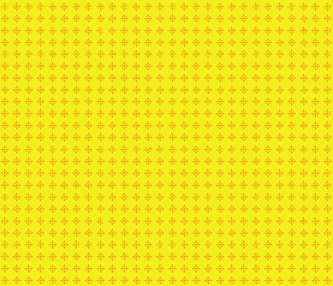 Small Floral repeat yellow and orange fabric by megankaydesign on Spoonflower - custom fabric