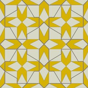 geometricks (mustard)