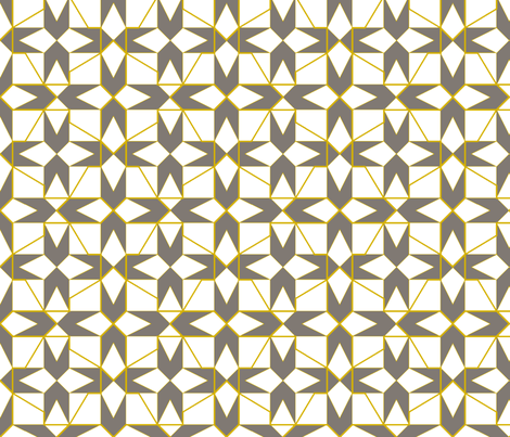 geometricks (taupe) fabric by wednesdaysgirl on Spoonflower - custom fabric