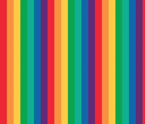 Rainbow! ROYGBIV fabric by myprettycabinet on Spoonflower - custom fabric