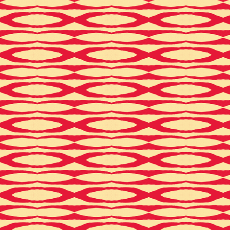 wavering in red and cream fabric by joybea on Spoonflower - custom fabric