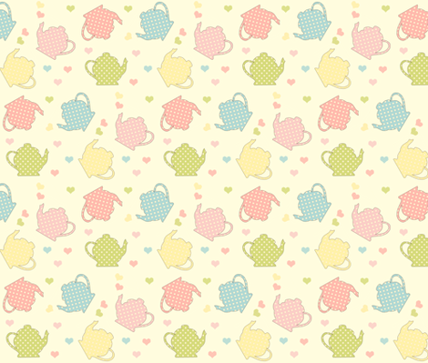 Tea Time fabric by anikabee on Spoonflower - custom fabric