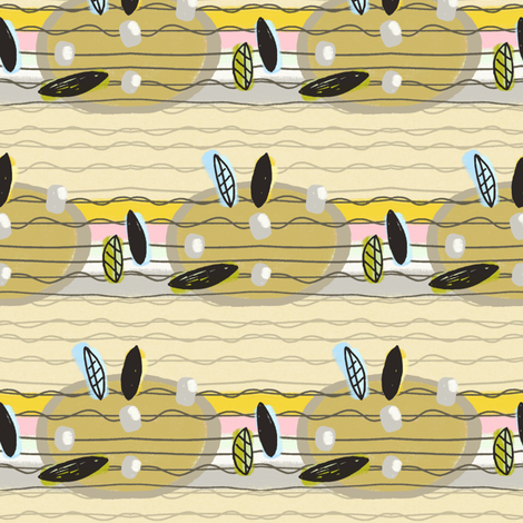Blackbird's Ukelele fabric by lisabarbero on Spoonflower - custom fabric