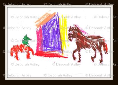 Horses at school