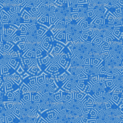 Digital Crazy Quilt in Sky Blue © Gingezel™ 2012