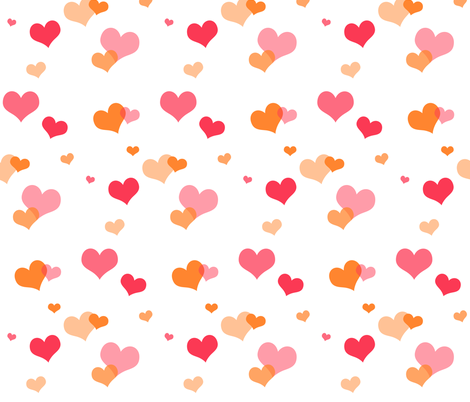 Hello_Dahlia_Hearts fabric by tequila_diamonds on Spoonflower - custom fabric