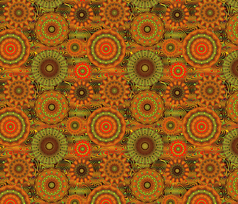 Peacock Wheels-sm pattern-ed fabric by elarnia on Spoonflower - custom fabric