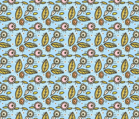 Midday Delight fabric by lisabarbero on Spoonflower - custom fabric