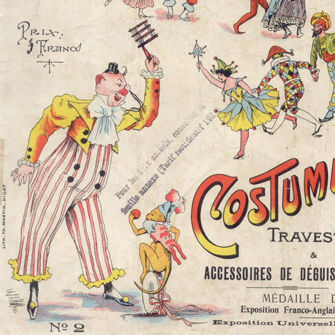 French Circus ad fabric by peagreengirl on Spoonflower - custom fabric